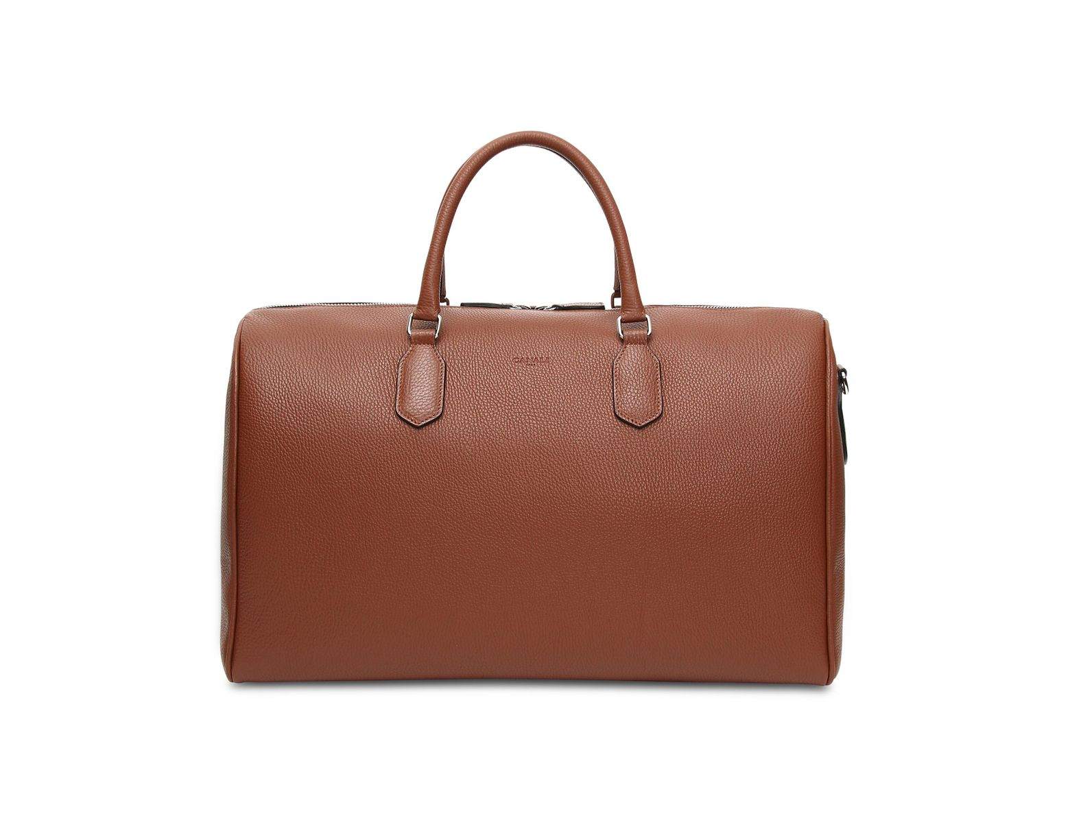 9d94bb571 Canali Terracotta Calfskin Leather Travel Duffle Bag in Brown for Men - Lyst
