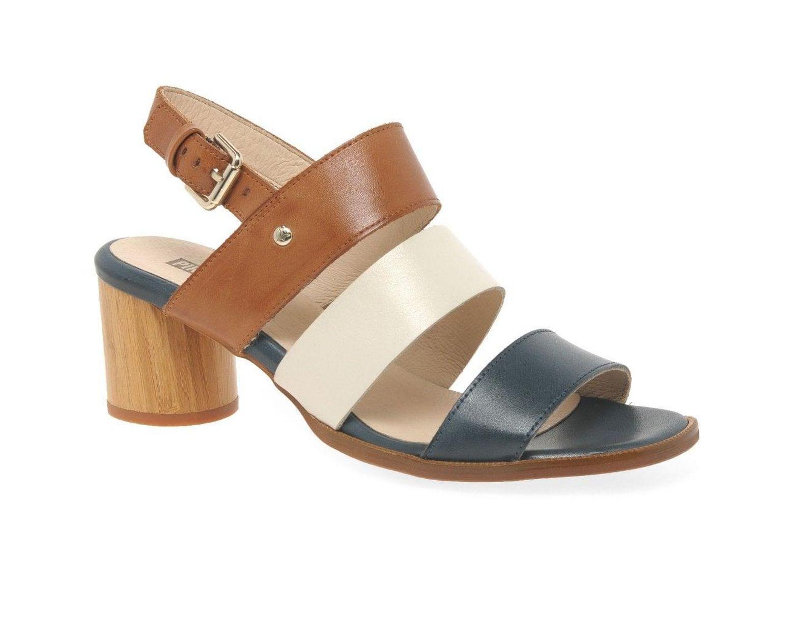 f426330cf3c1a Pikolinos Rota Womens Block Heel Sandals - Lyst