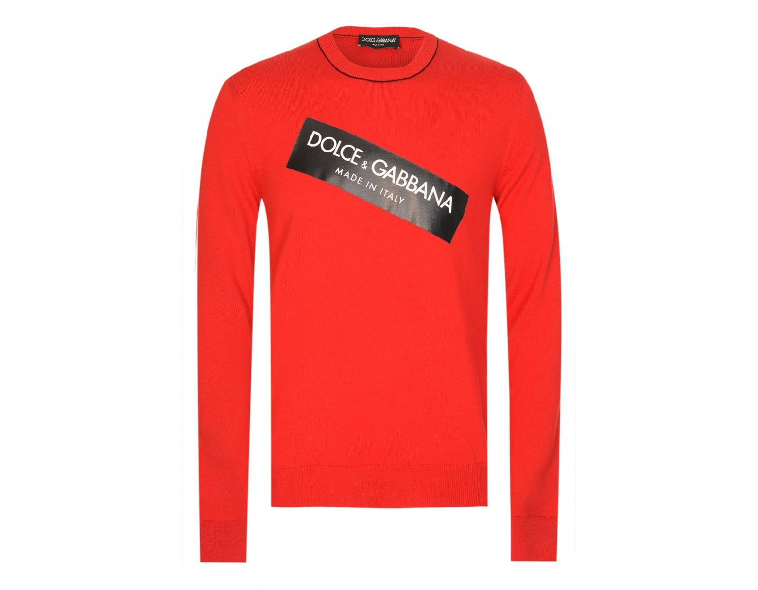 236d5b7b Dolce & Gabbana Slant Chest Logo Sweatshirt in Red for Men - Lyst