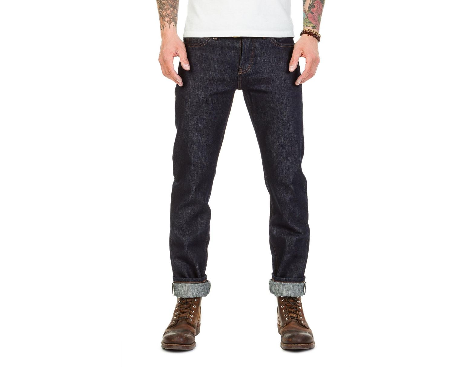 8db2dc6c The Unbranded Brand Unbranded Ub121 Skinny Fit Heavyweight Selvage Indigo  21oz in Blue for Men - Save 1% - Lyst