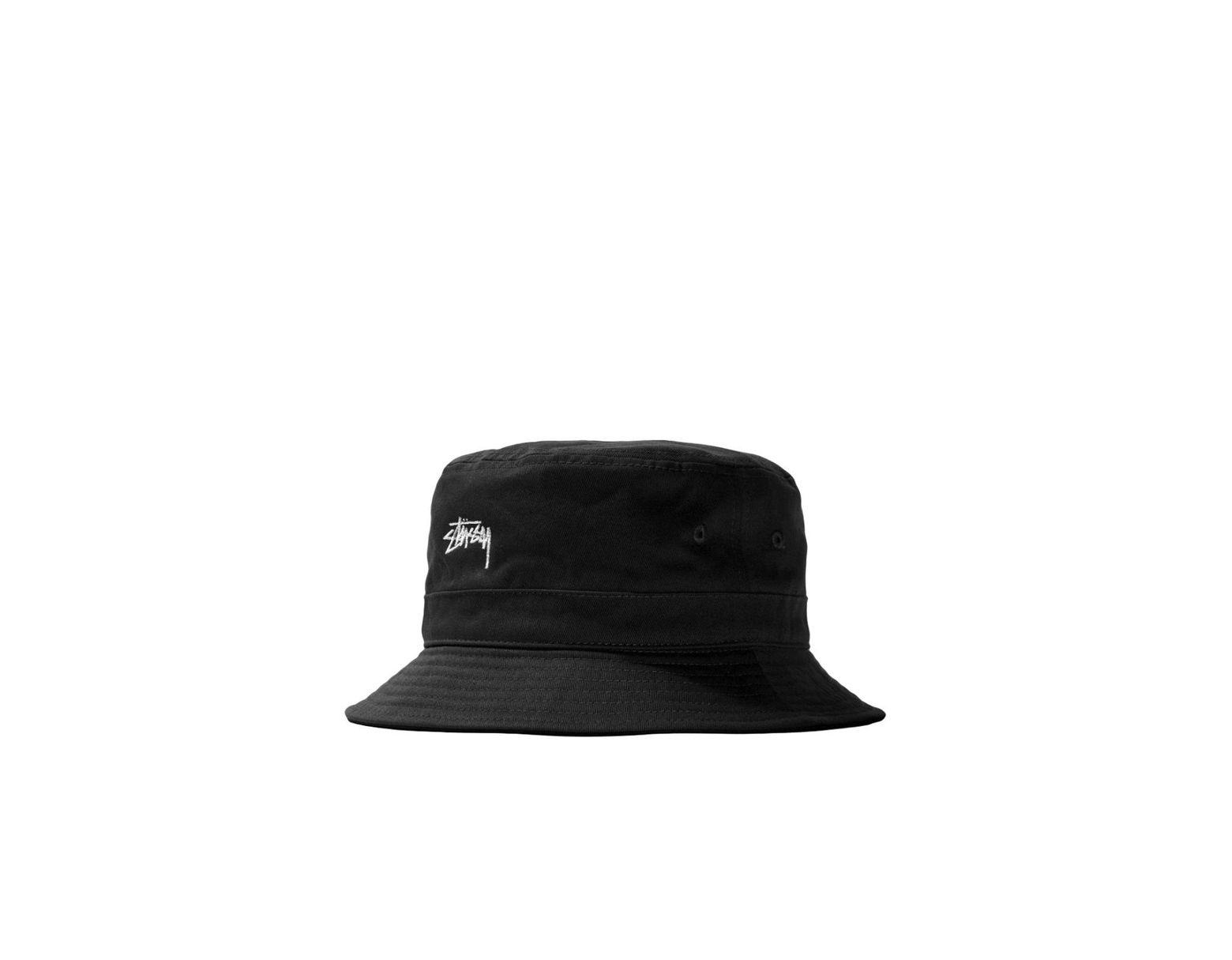 218e05efafcf Stussy Stock Band Bucket Hat Black in Black for Men - Lyst
