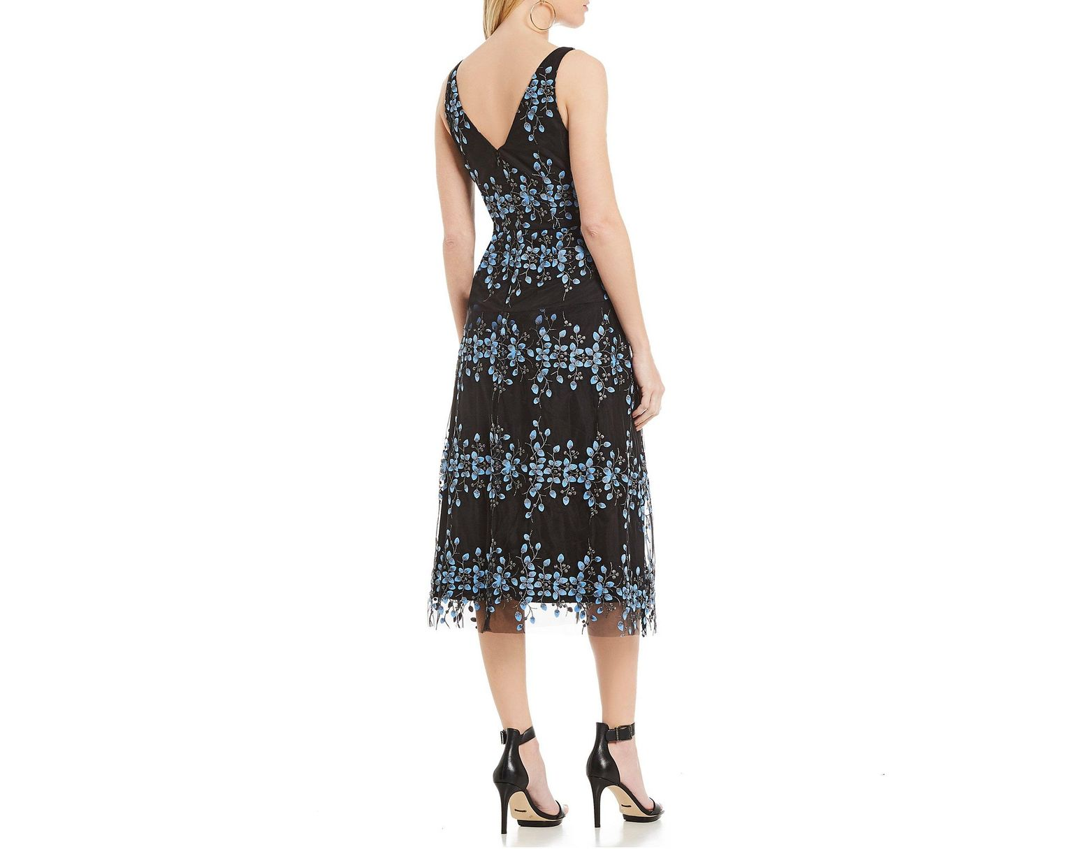 e371f7b8224 Gianni Bini Emily Embroidered Midi Dress in Black - Save 42% - Lyst