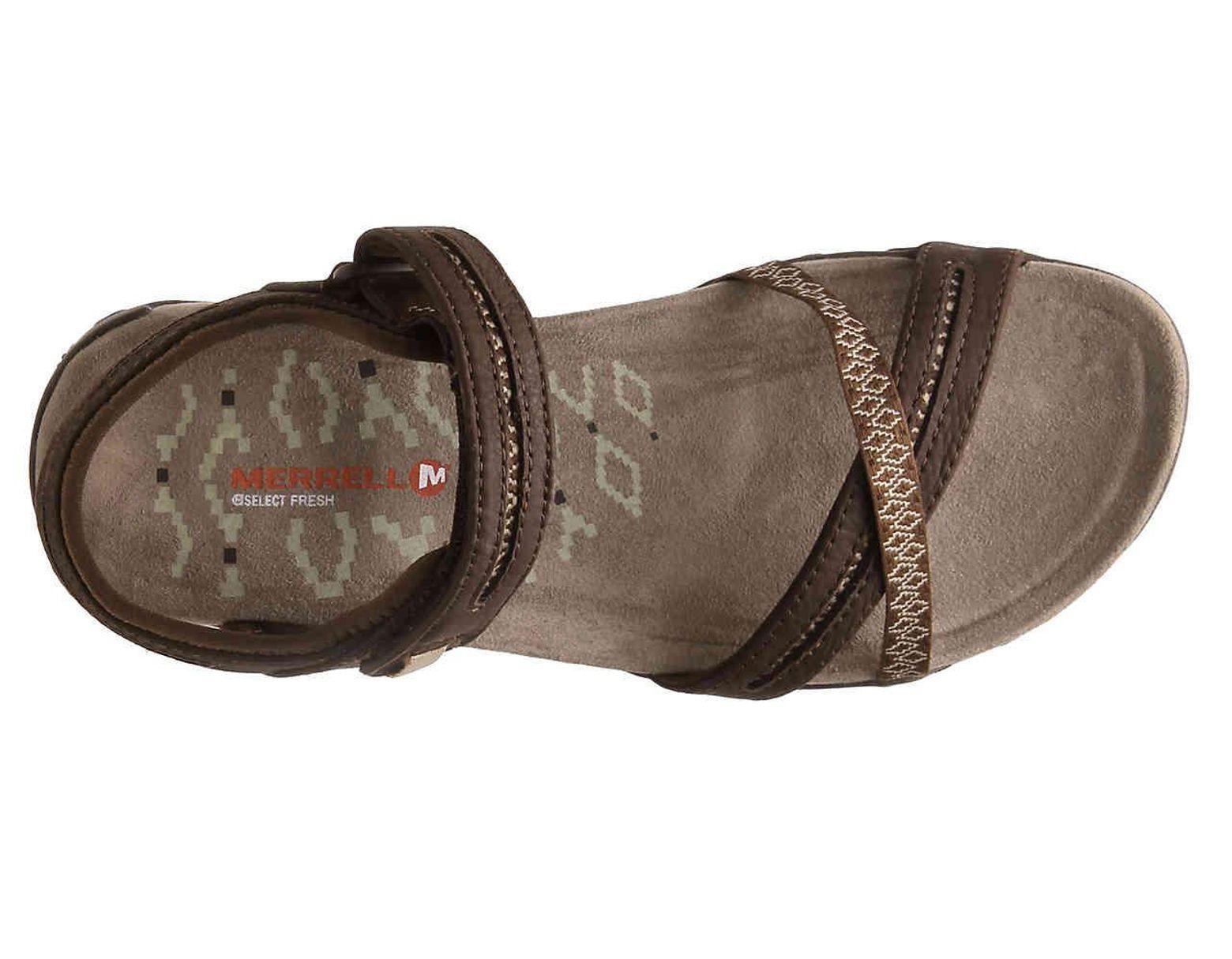 6b421f0a764c Lyst - Merrell Terran Cross Ii Sport Sandal in Brown