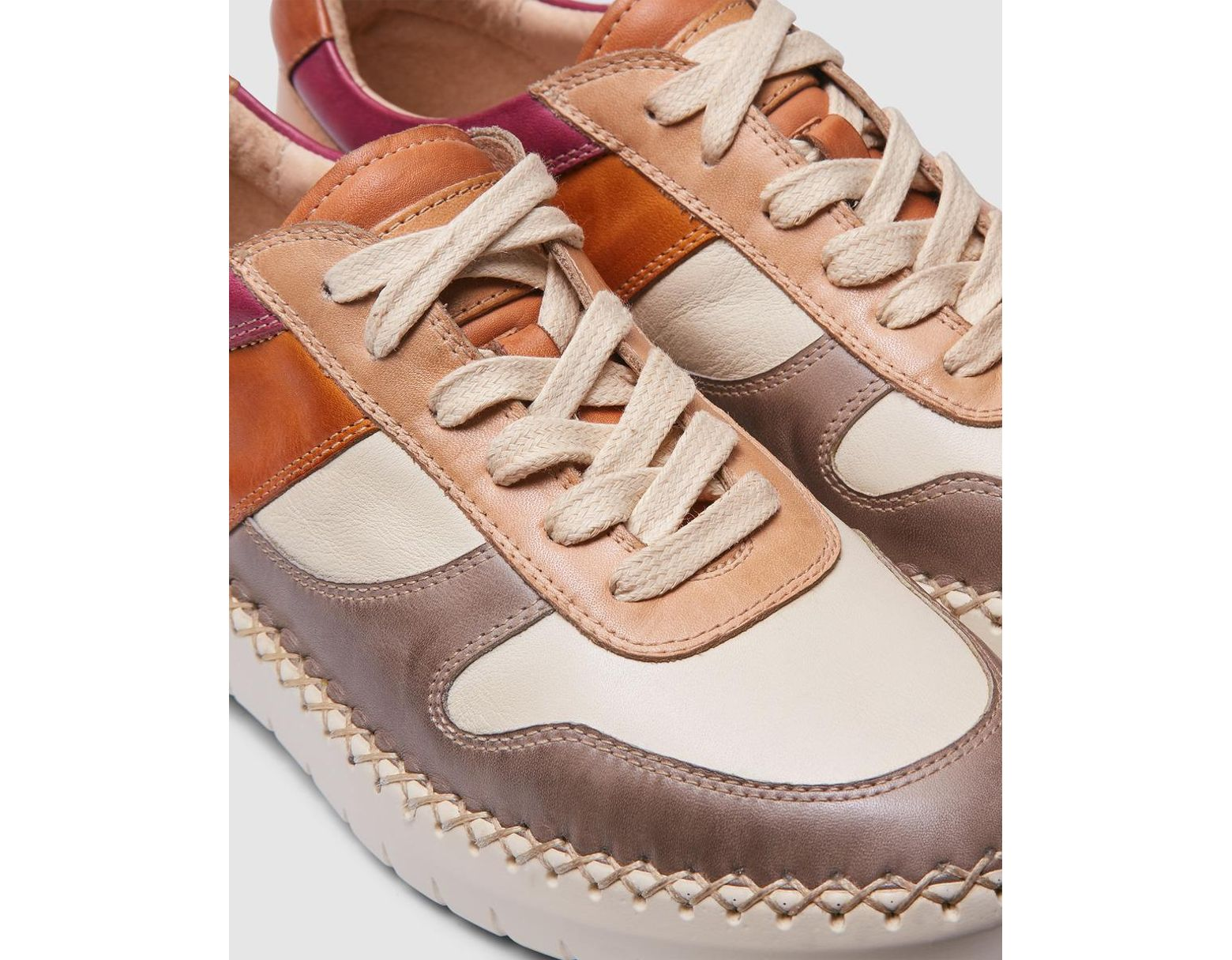 027045124e3 Pikolinos Multicoloured Leather Lace-up Trainers - Lyst
