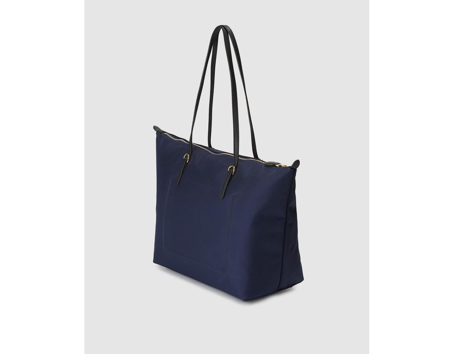fb7e9e3a0 Lauren by Ralph Lauren Navy Blue Nylon Tote Bag With Zip in Blue - Lyst