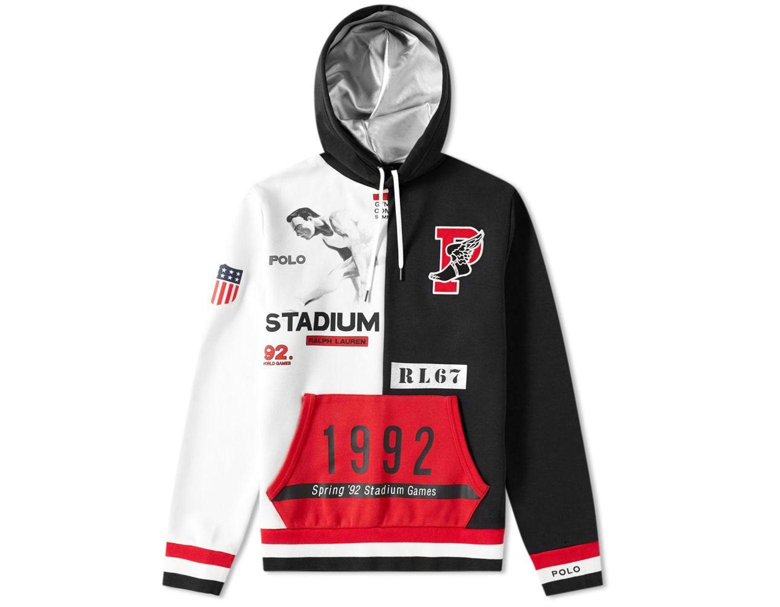 363e4364 Polo Ralph Lauren Winter Stadium Hoody in Black for Men - Save 43% - Lyst