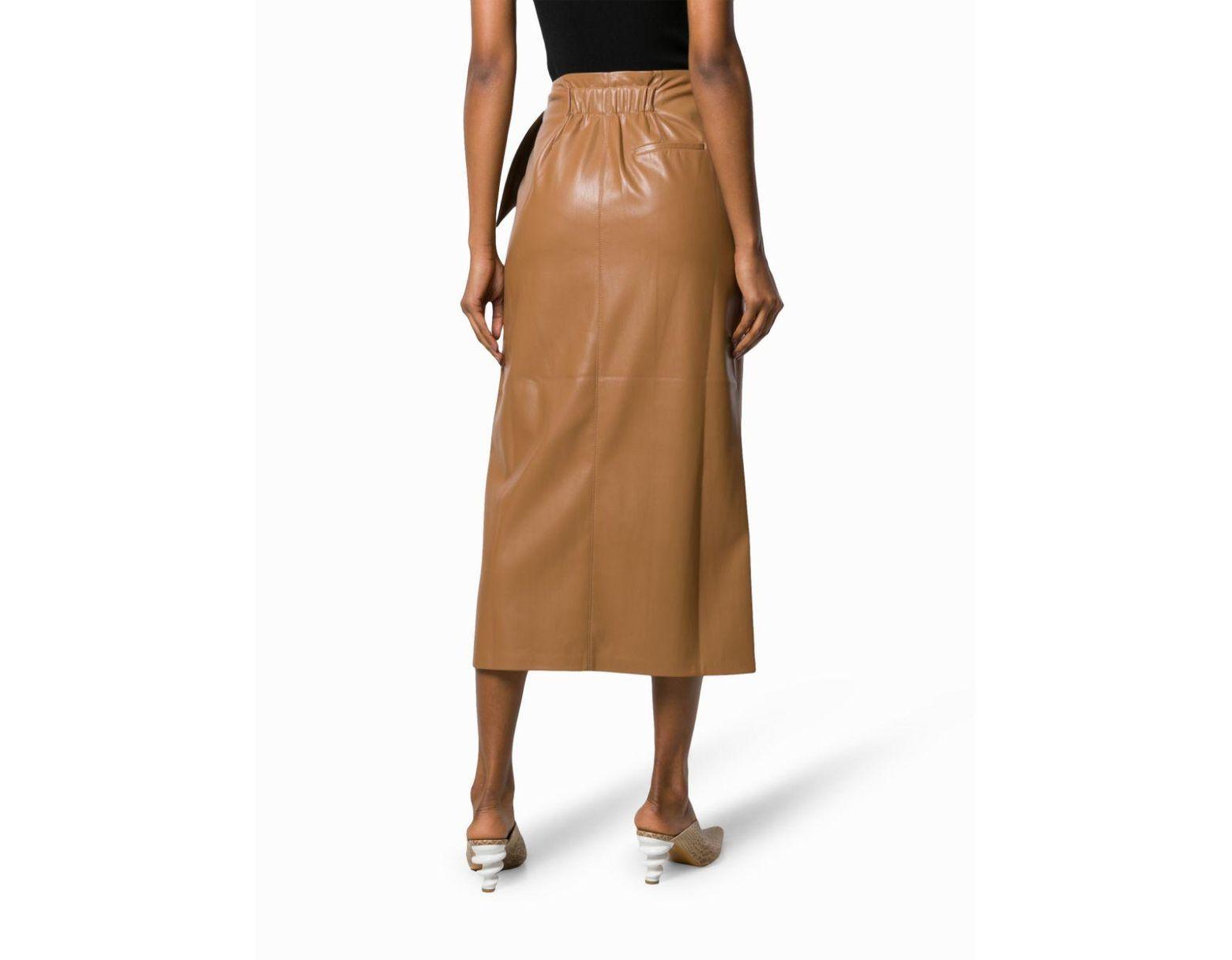 899e751e1a Nanushka Wrapped Midi Skirt in Brown - Save 12% - Lyst