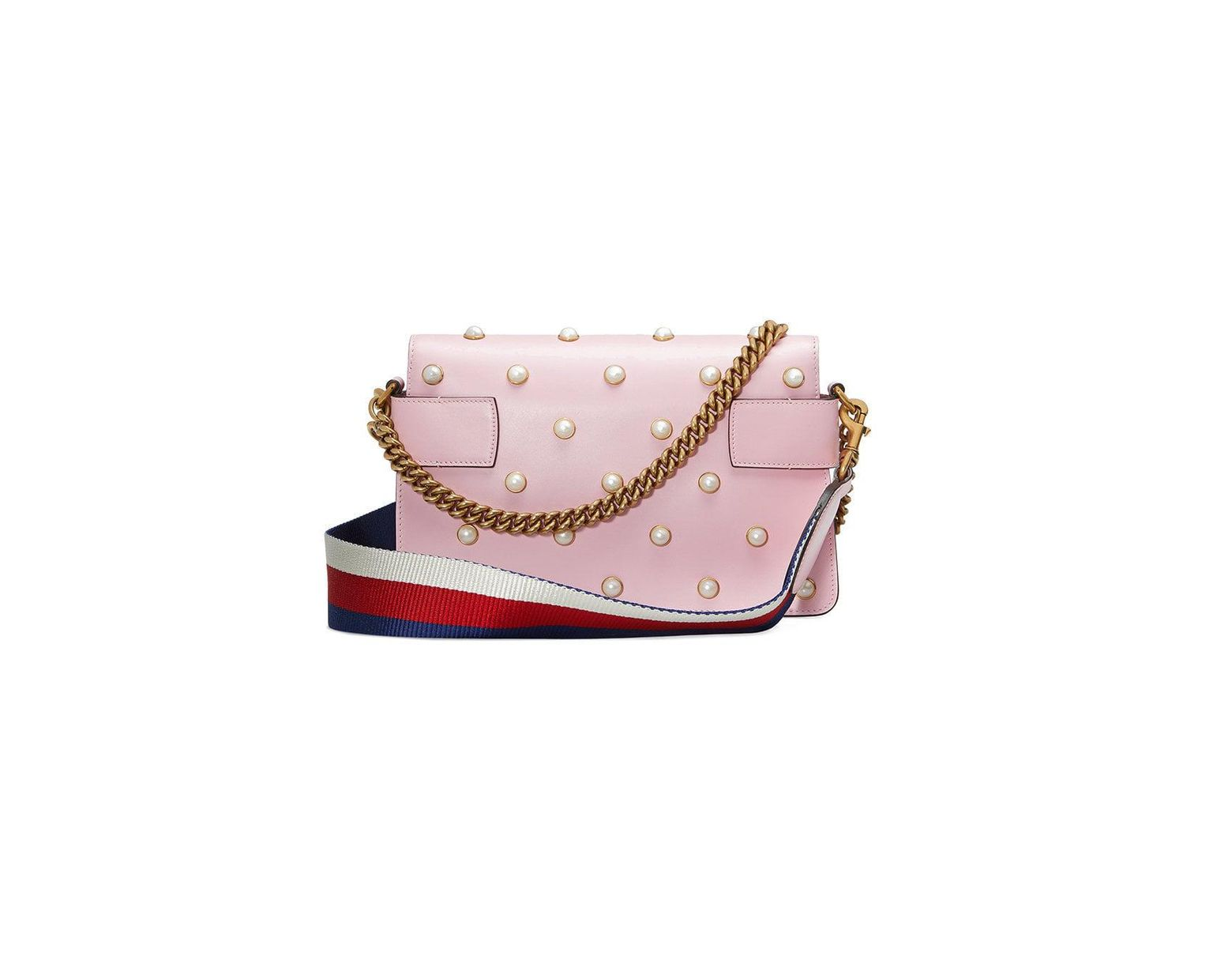 36383a314e9 Lyst - Gucci Broadway Leather Mini Bag in Pink - Save 30%