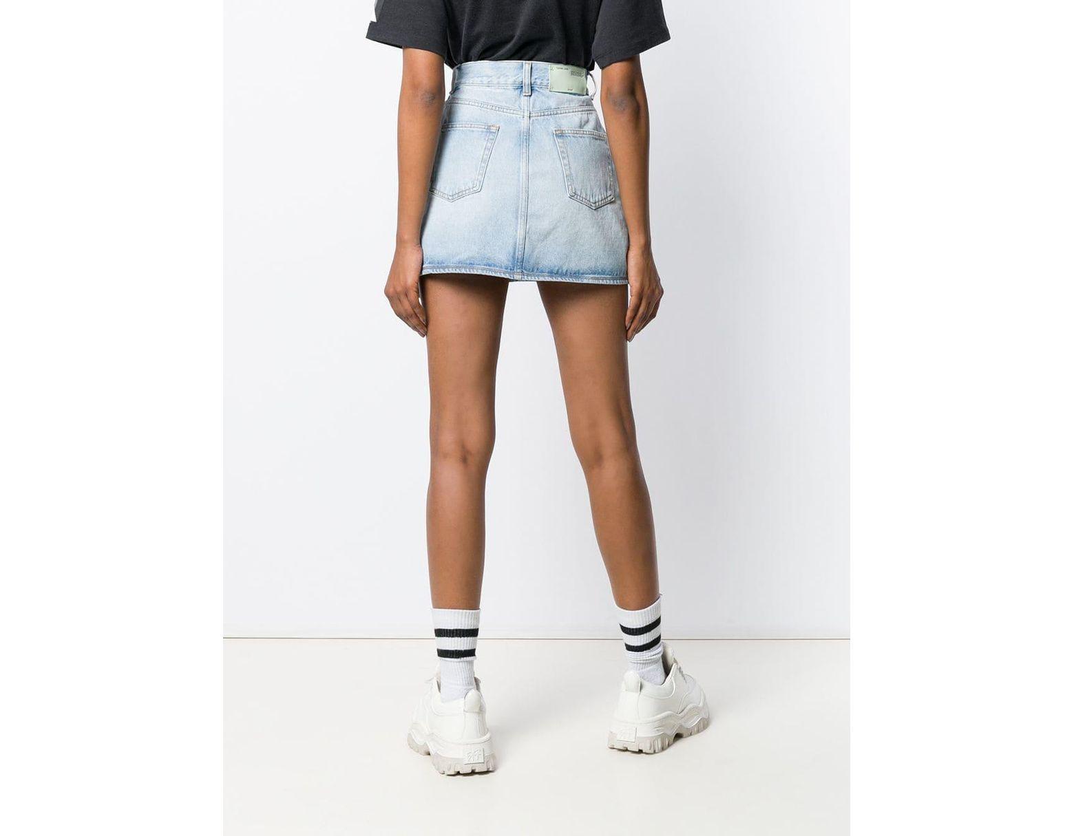 64ea1861b0 Off-White c/o Virgil Abloh Denim Mini Skirt in Blue - Save 40% - Lyst