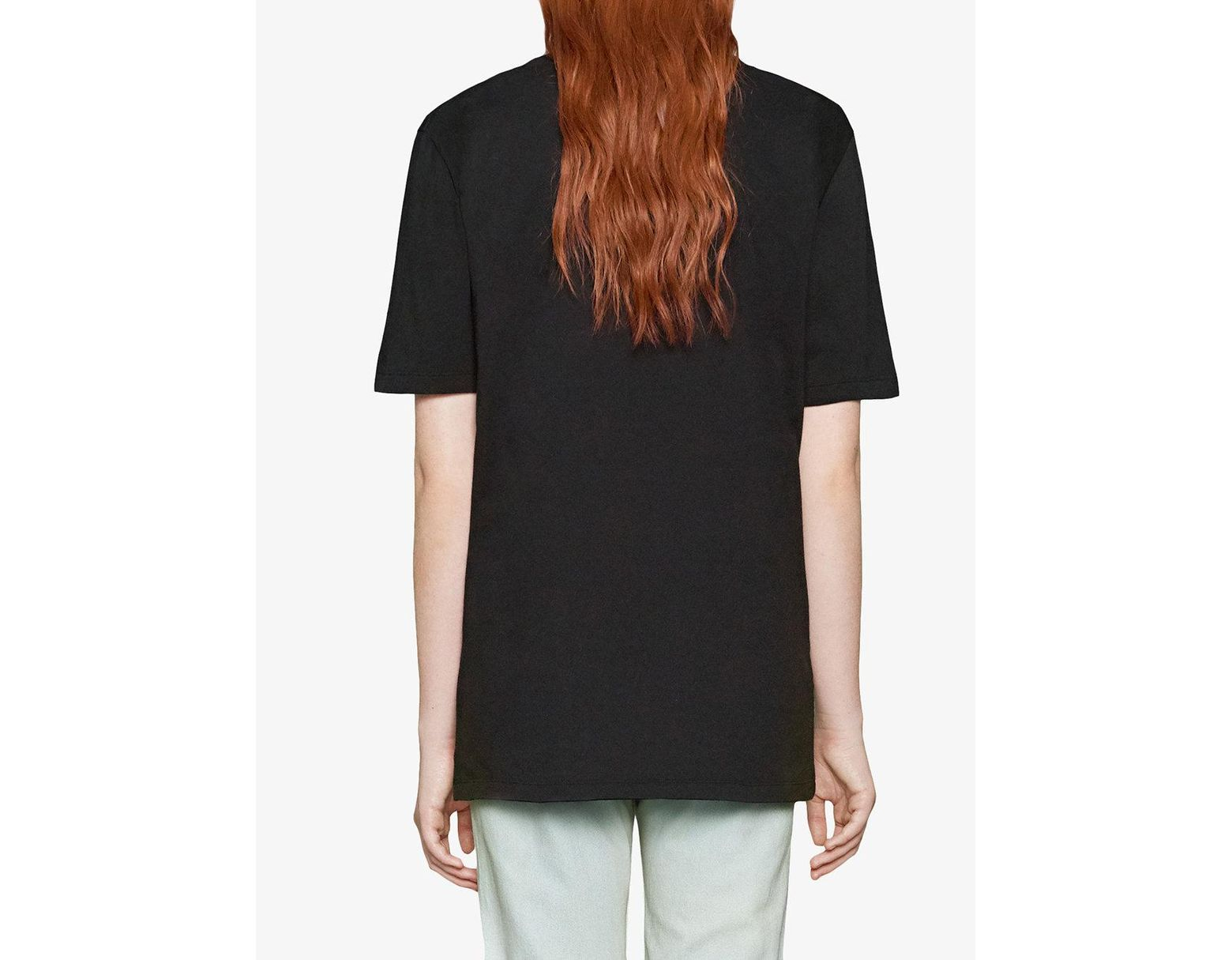 b522e0473 Gucci Bugs Bunny Cotton T-shirt in Black - Save 10% - Lyst