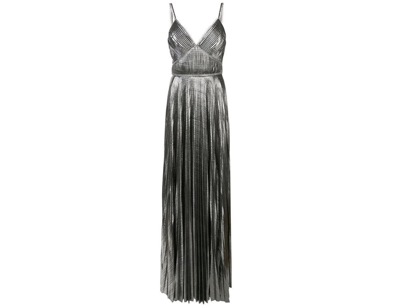 2a1d5b2383 Marchesa notte Pleated Metallic Gown in Metallic - Save 6% - Lyst