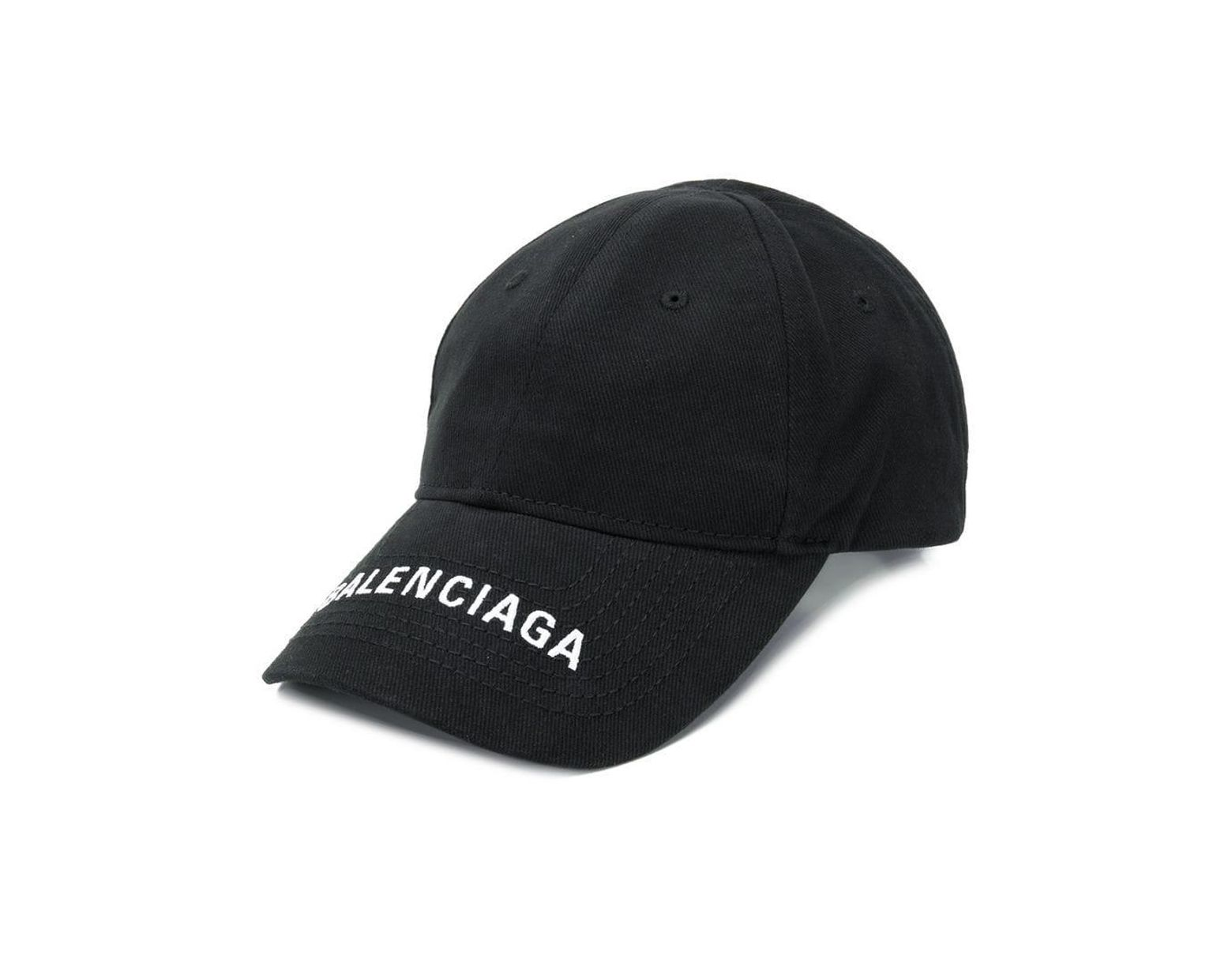 f5008fd7 Balenciaga Logo Embroidered Cap in Black - Save 40% - Lyst