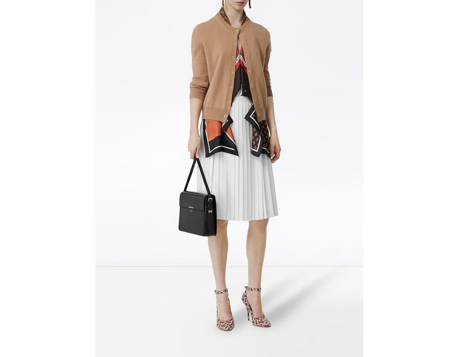 5a89fd9645 Burberry Large Leather Grace Bag in Black - Lyst