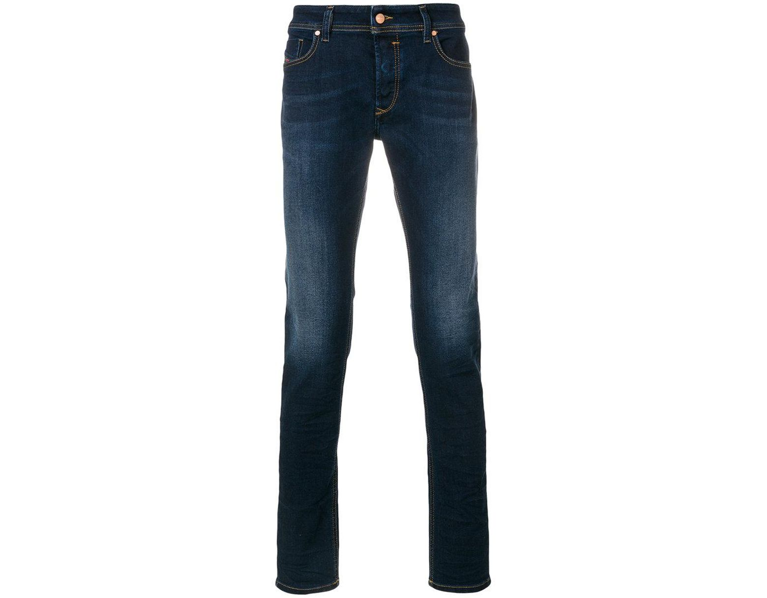 b60b2ddb DIESEL Sleenker 084ri Jeans in Blue for Men - Lyst