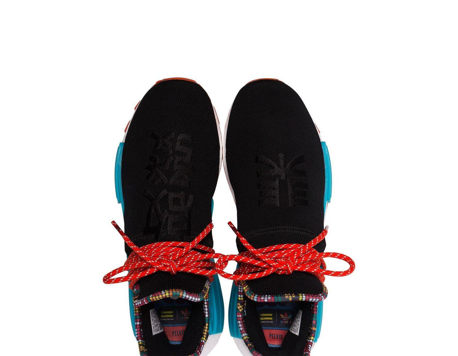 88dd096700bec Lyst - adidas X Pharrell Williams Black Human Body Nmd Sneakers in Black  for Men