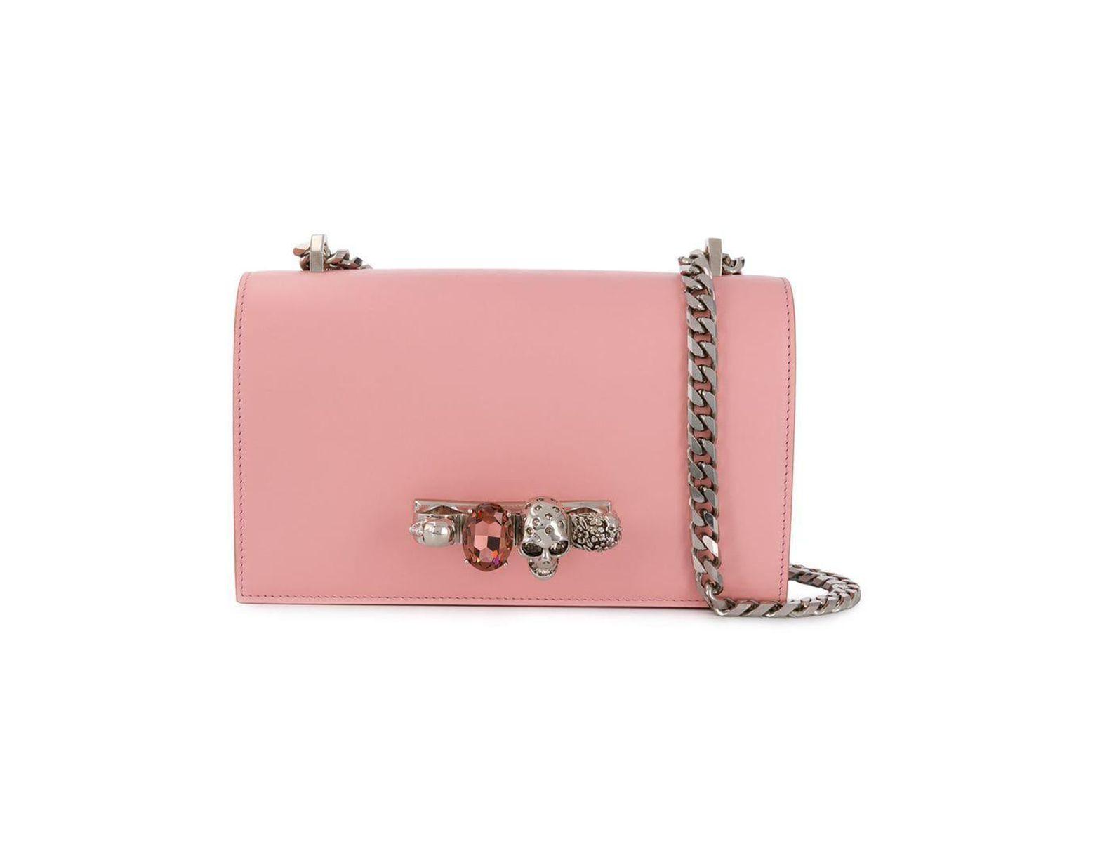 f8de0eab833 Alexander McQueen Jewelled Crossbody Bag in Pink - Lyst