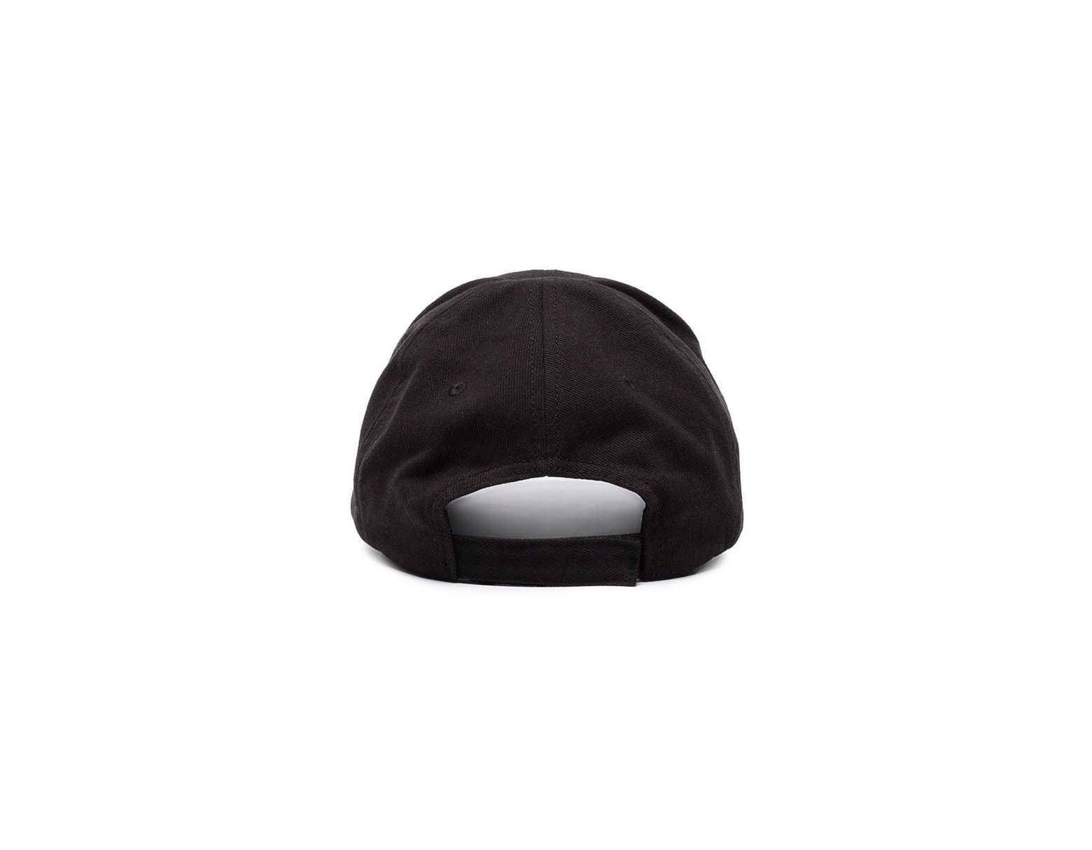 2b19184bf904b Balenciaga Black Bb Europe Embroidered Cap in Black for Men - Save 30% -  Lyst