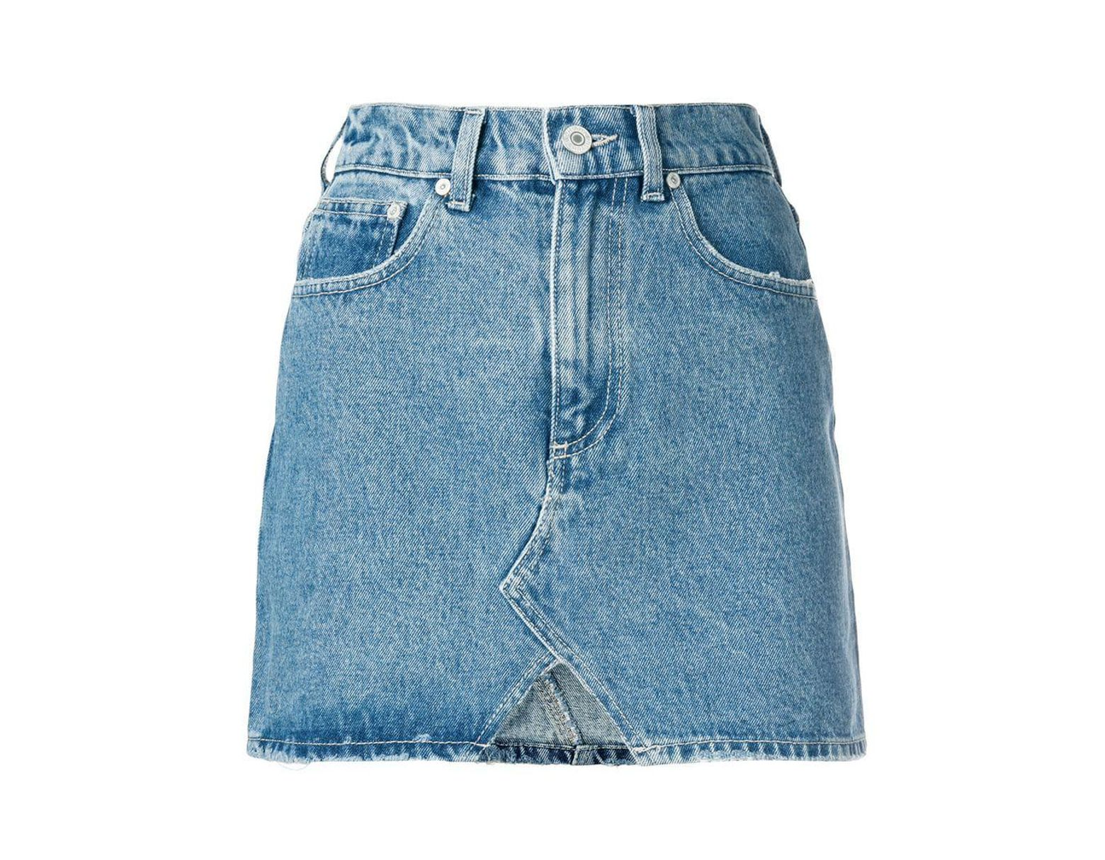 44a93834cd Chiara Ferragni Blue Cotton Skirt in Blue - Save 25% - Lyst