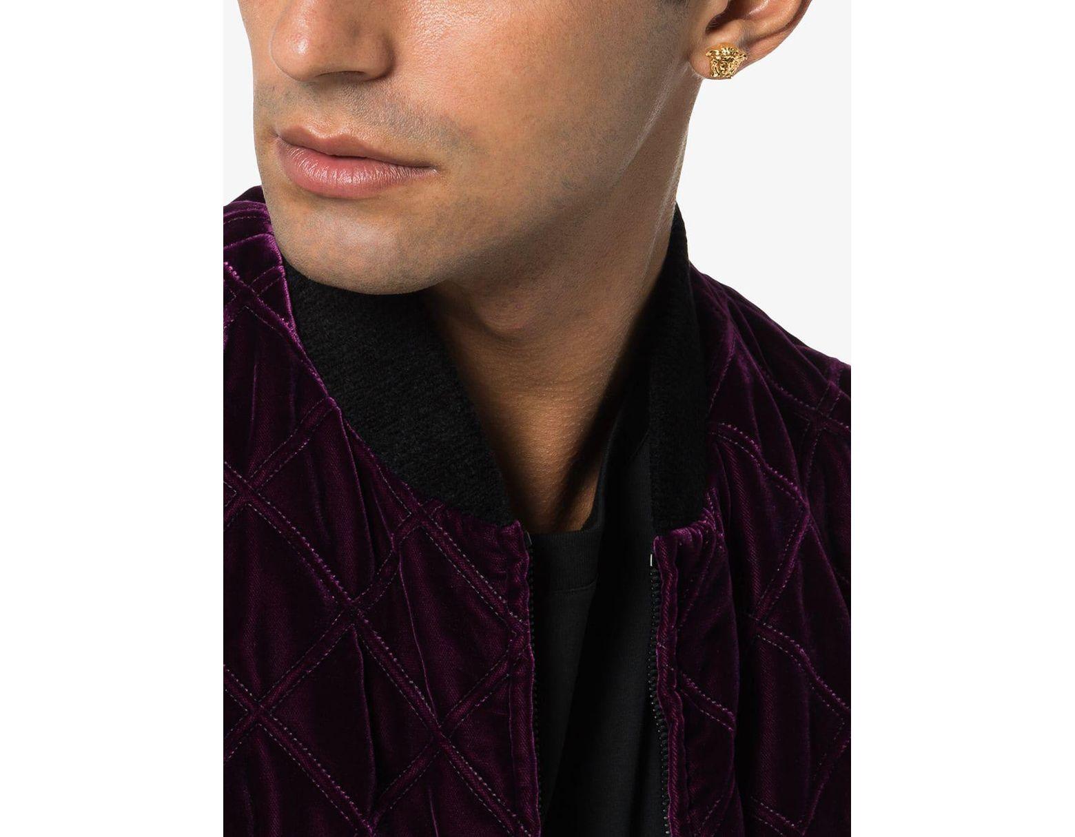 89deb841b Versace Gold Metallic Medusa Stud Earrings in Metallic for Men - Save 10% -  Lyst
