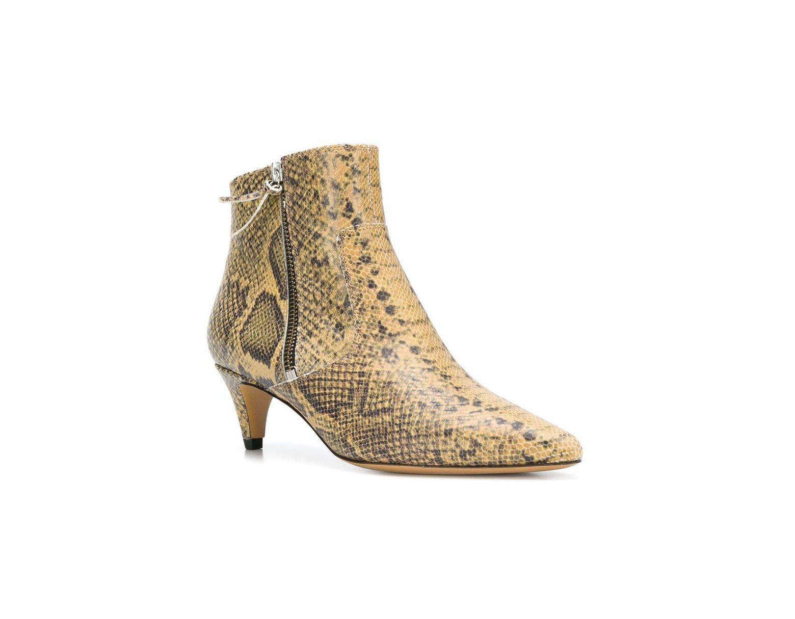 56dc354a55 Isabel Marant Snake Printed Kitten Heel Boot in Natural - Save 11% - Lyst