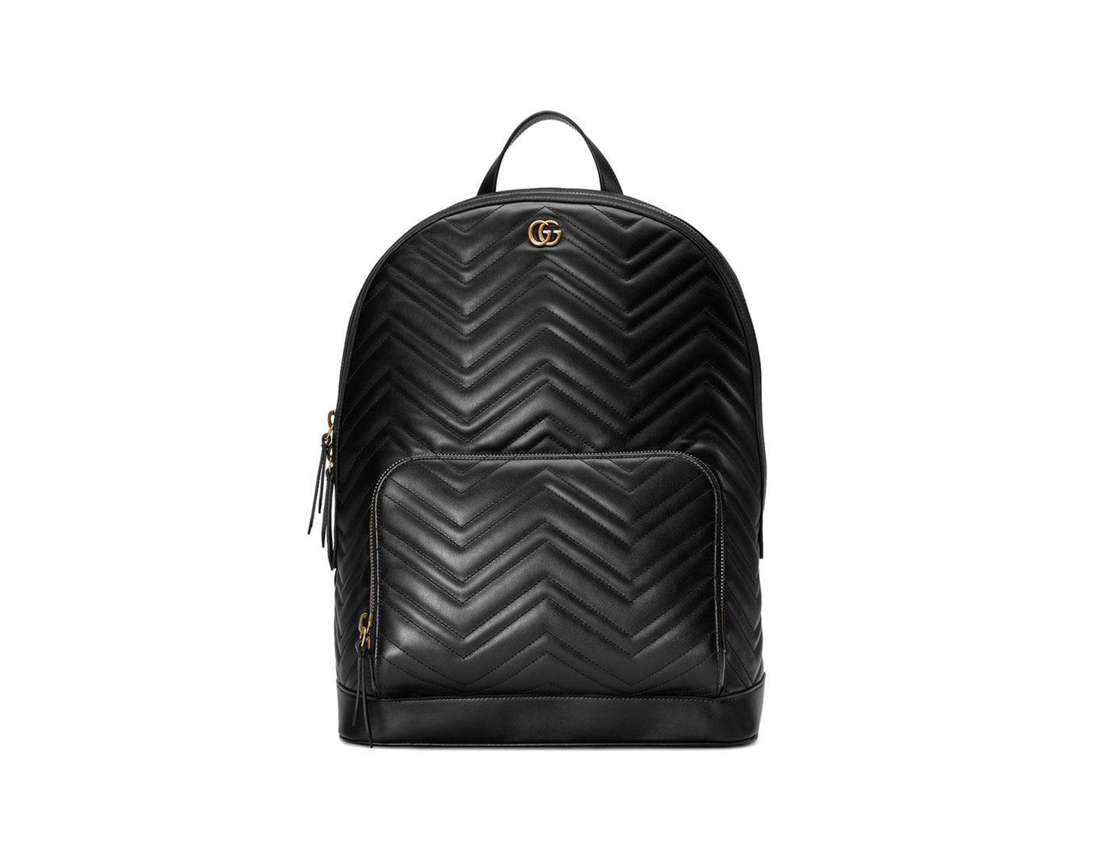 0dca211d6 Gucci GG Marmont Matelassé Backpack in Black for Men - Save 13% - Lyst