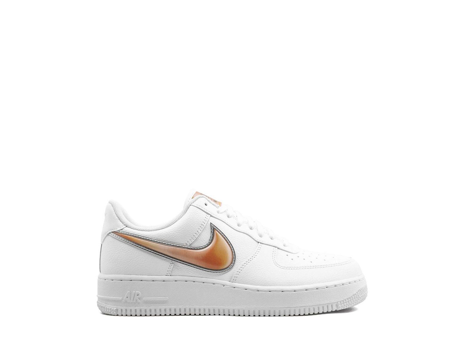 hot sale online b9181 19781 Nike Air Force 1 Low Oversized Swoosh Sneakers in White for ...