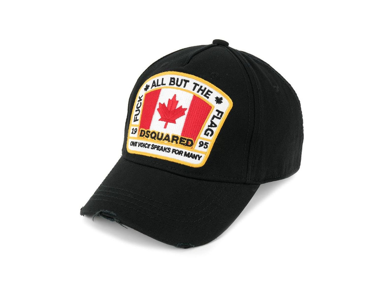 741b68d5c8968a DSquared² Canadian Flag Patch Baseball Cap in Black for Men - Lyst