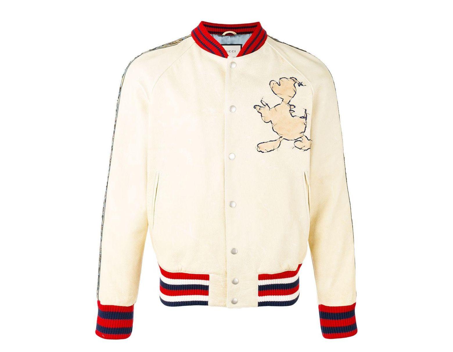 super popular a768a c9ef0 Gucci Donald Duck Appliqué Bomber Jacket for Men - Lyst