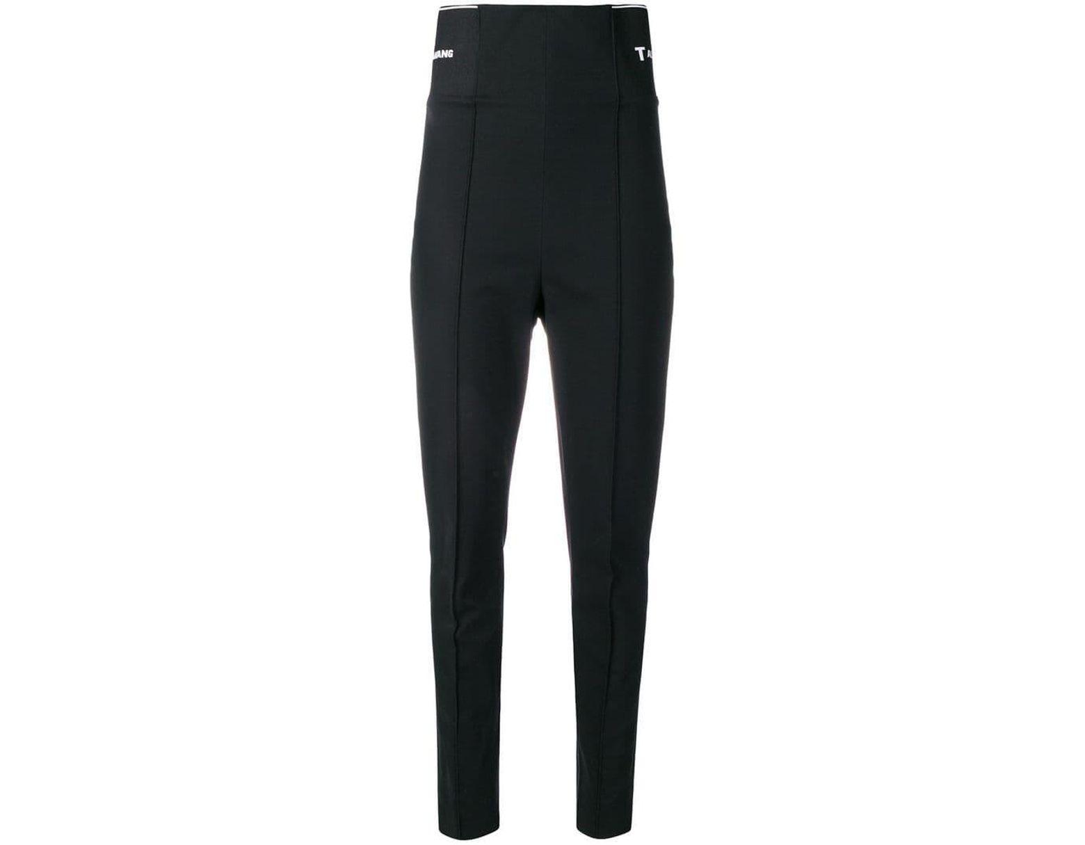 0684aba7fb21c T By Alexander Wang Logo Elastic leggings in Black - Lyst
