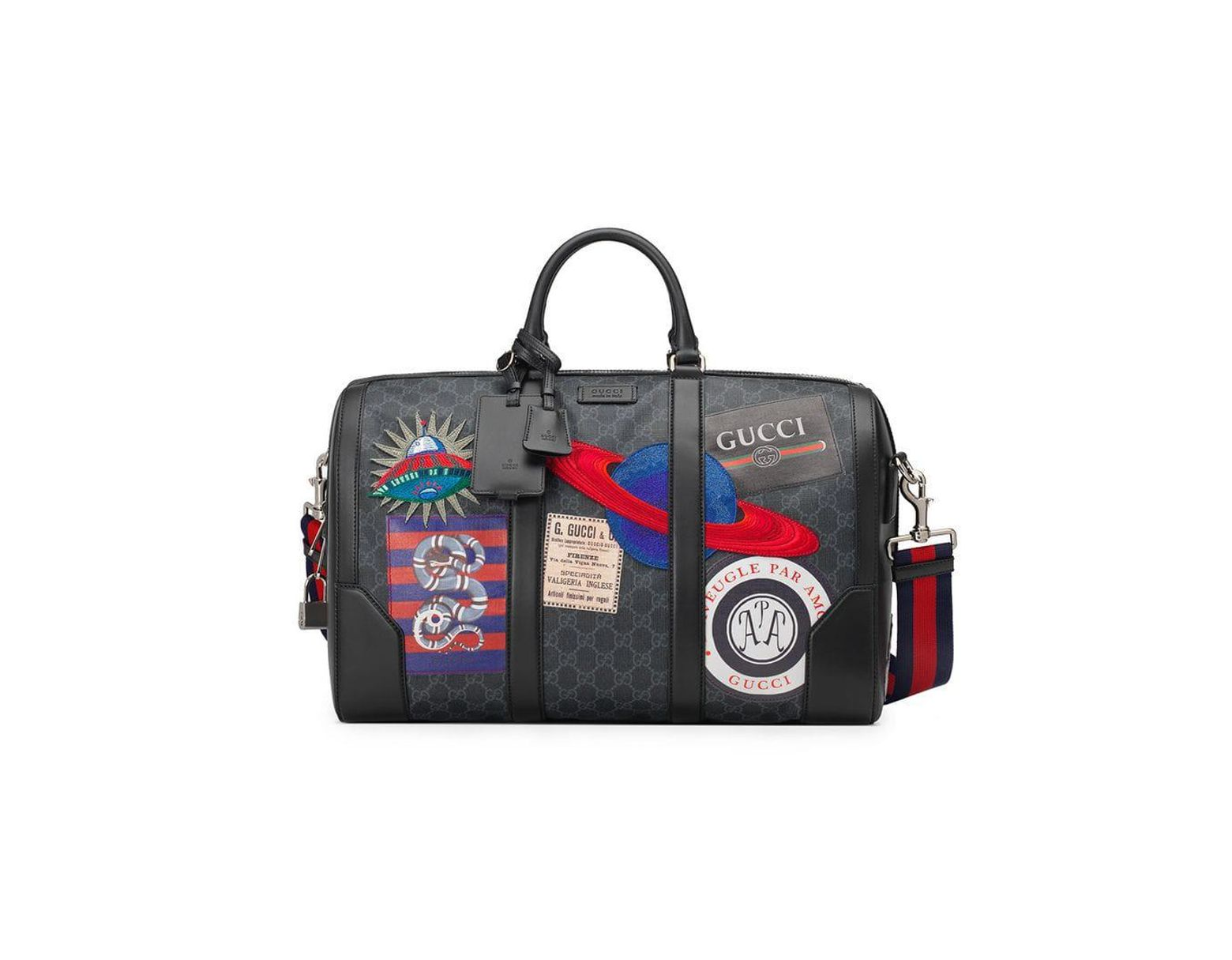 0216baa18 Gucci Night Courrier Soft GG Supreme Carry-on Duffle in Black for Men - Lyst