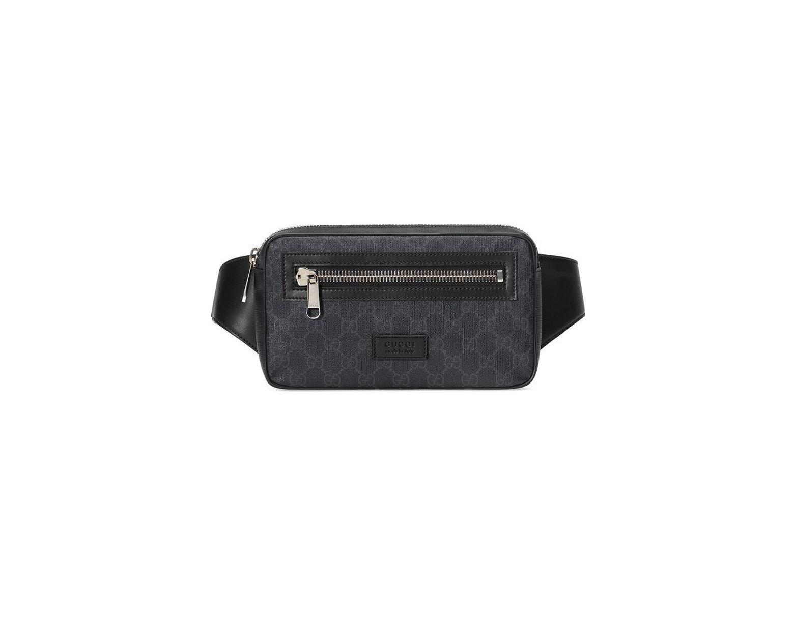 53e34a3501 Sac ceinture en toile suprême GG souple Gucci pour homme en coloris Noir -  Lyst
