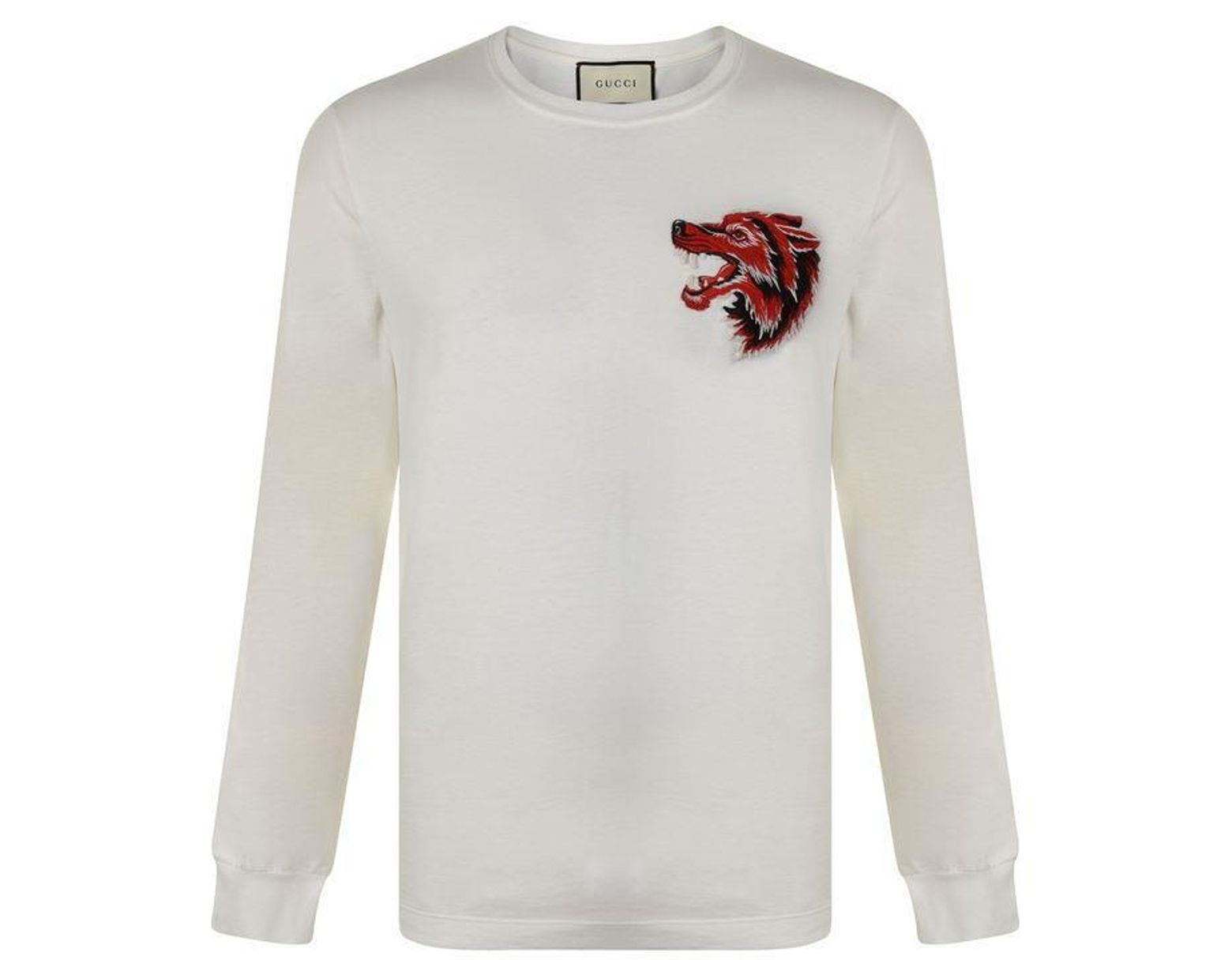 5f0c85bfe Gucci Wolf Long Sleeve T Shirt for Men - Lyst