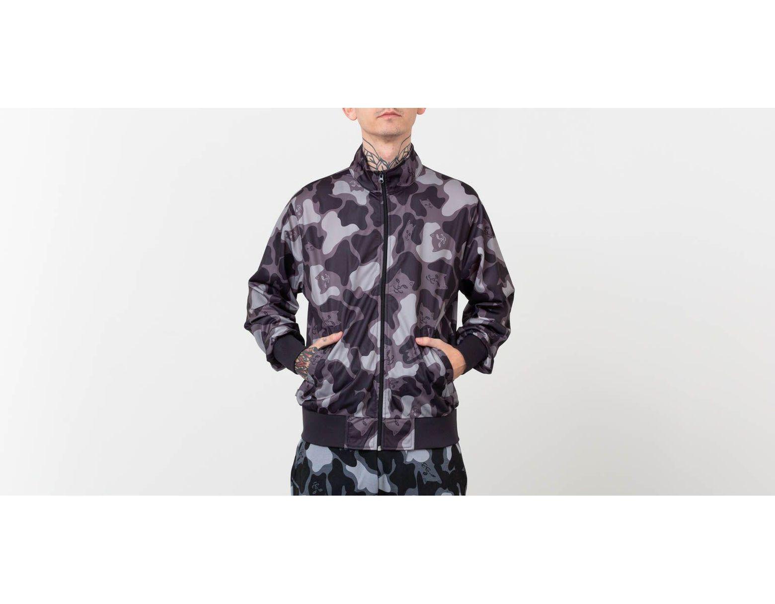 37f3824e12f25 RIPNDIP Nerm Camo Track Jacket Blackout Camo for Men - Save 40% - Lyst