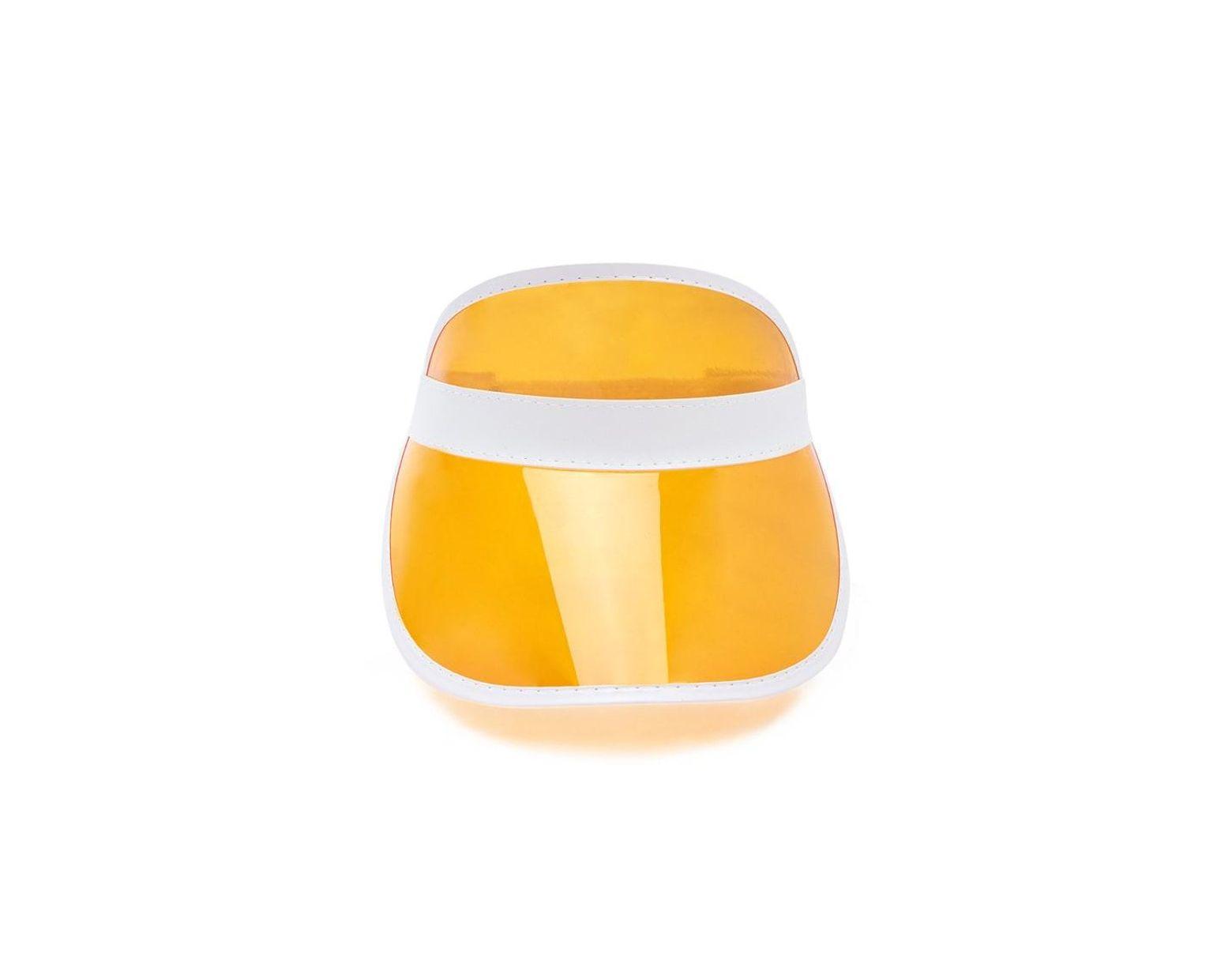 0f9dce49 Forever 21 Semi-transparent Visor Hat in Orange - Lyst