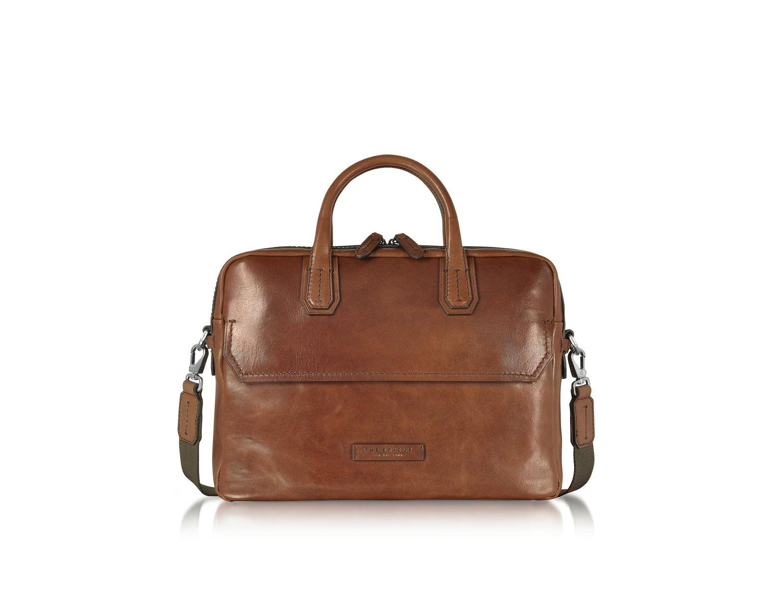 ee290ecc3 The Bridge Dark Brown Double Handle Briefcase in Brown for Men - Lyst