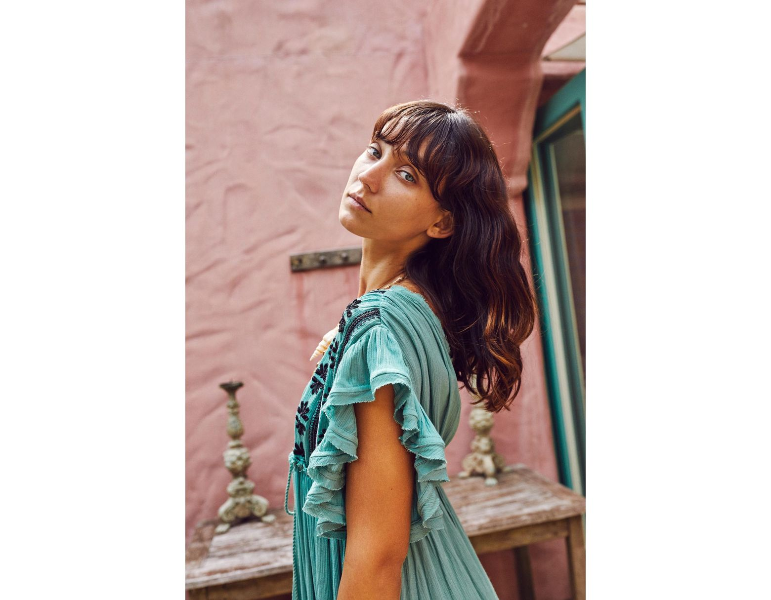 bed97816b9 Free People Bali Will Wait For You Midi Dress in Green - Lyst