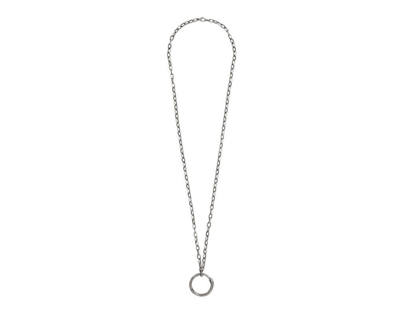 82babcc61 Gucci Ouroboros Pendant Necklace in Metallic - Lyst
