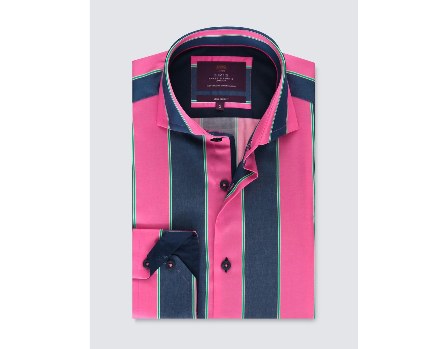 d0aad4a636 Lyst - Hawes & Curtis Pink & Blue Stripe Slim Fit Smart Casual Shirt in Pink  for Men