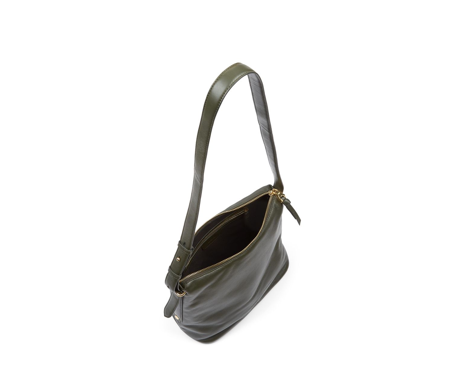 04f5c00ea94f Jaeger Maisie Small Hobo Leather Shoulder Bag - Lyst
