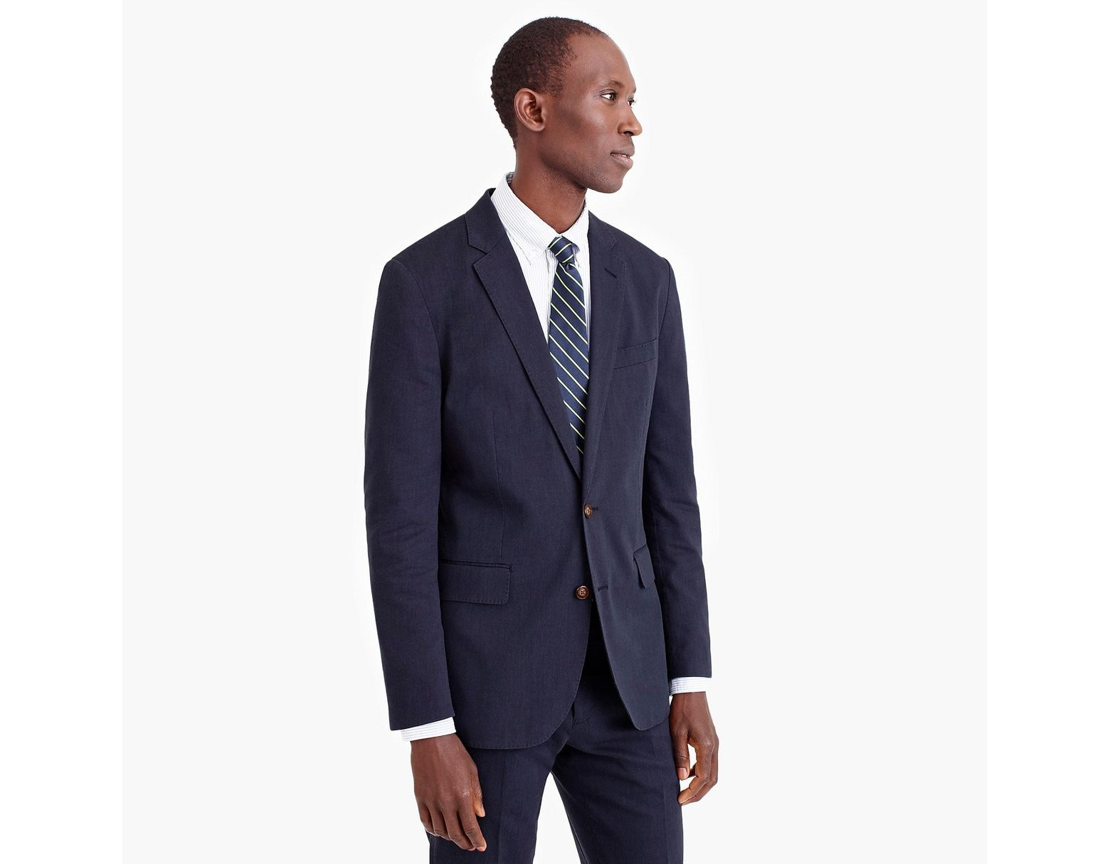 b35dcacf6f0e J.Crew Ludlow Slim-fit Unstructured Suit Jacket In Cotton-linen in Blue for  Men - Save 25% - Lyst