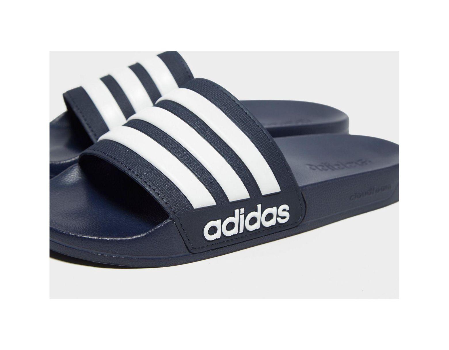 wholesale dealer 7f772 7ff48 Lyst - adidas Cloudfoam Adilette Slides in Blue for Men