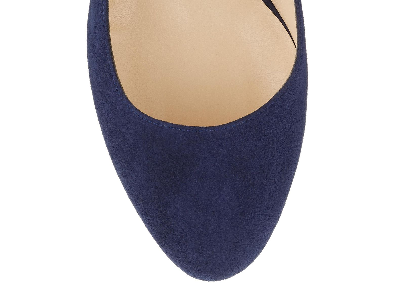 3f6eb3eb8 Jimmy Choo Billie 85 Navy Suede Round Toe Pumps With Chunky Heel in Blue -  Lyst