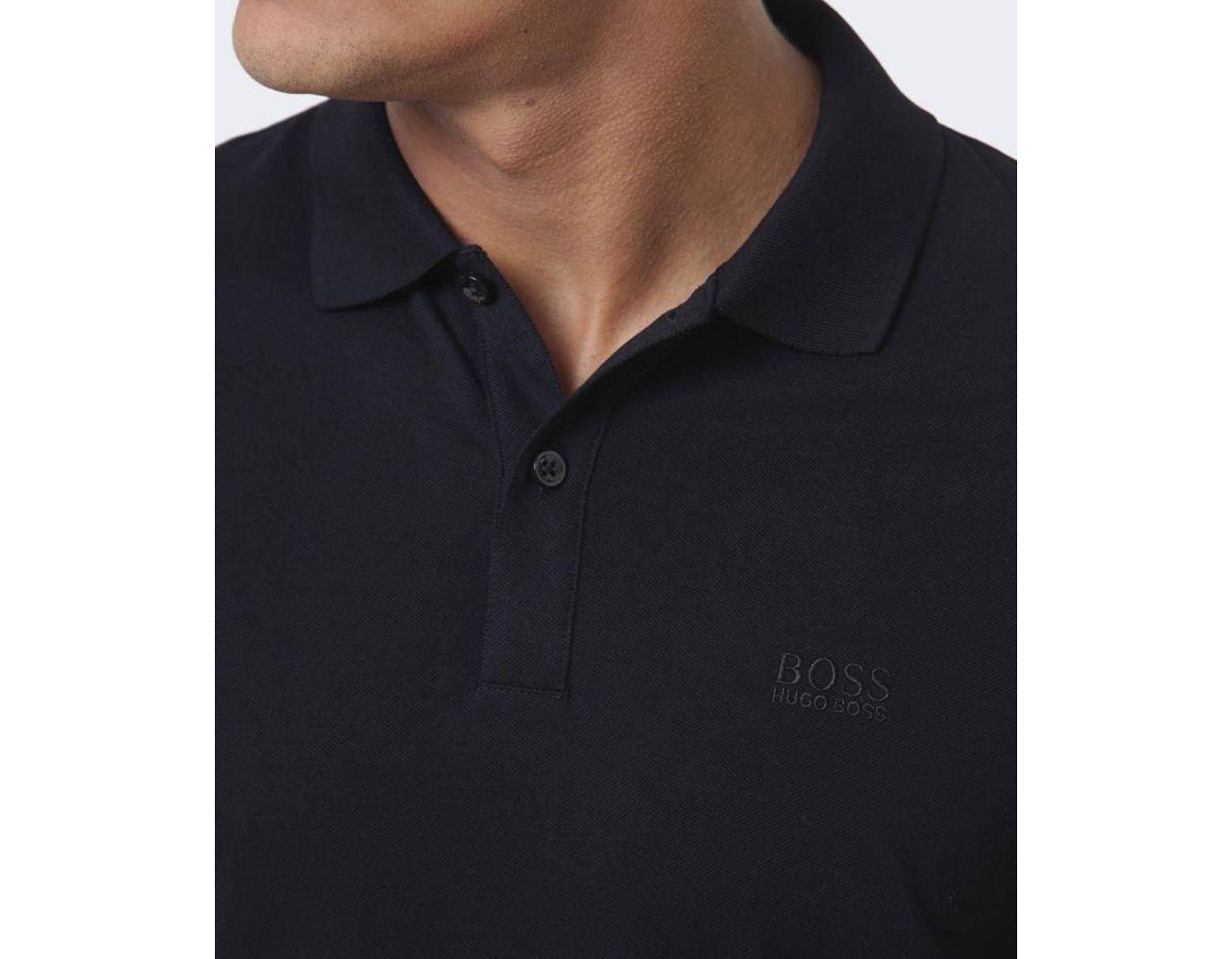 8d602109 BOSS Pallas Logo Polo Shirt in Black for Men - Save 19% - Lyst