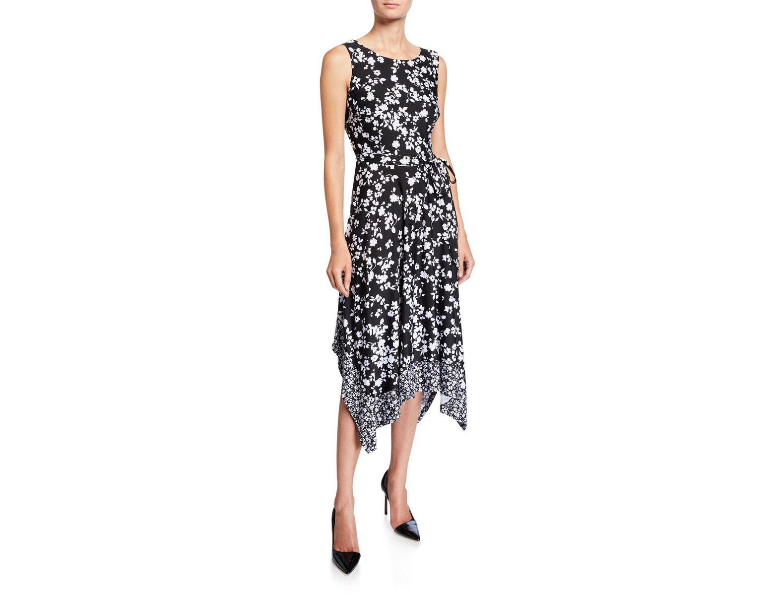 666c3120a035 Chetta B Floral-print Handkerchief Dress in Black - Lyst