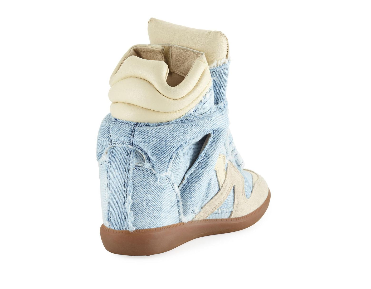 f5b4b222fb0 Isabel Marant Bekett Denim Wedge High-top Sneakers in Blue - Save 69% - Lyst