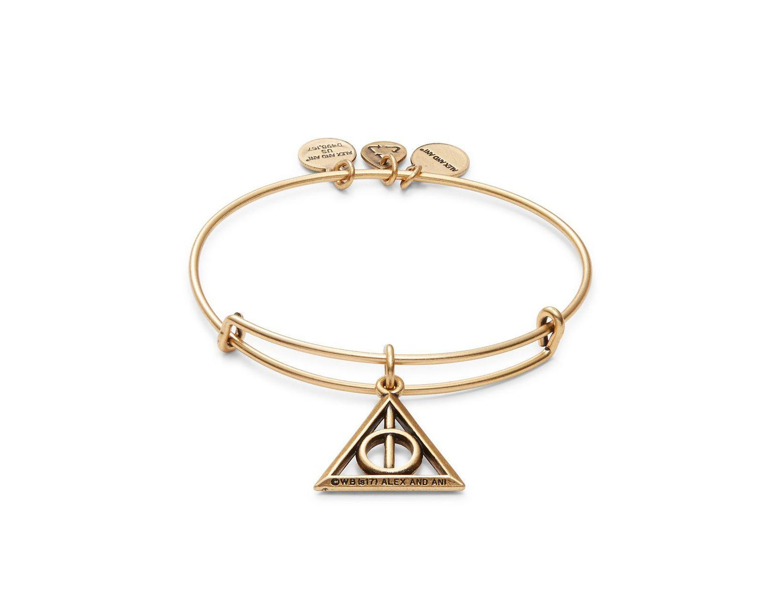 7b077432ac4a28 ALEX AND ANI Harry Potter Deathly Hallows Charm Bracelet in Metallic - Lyst