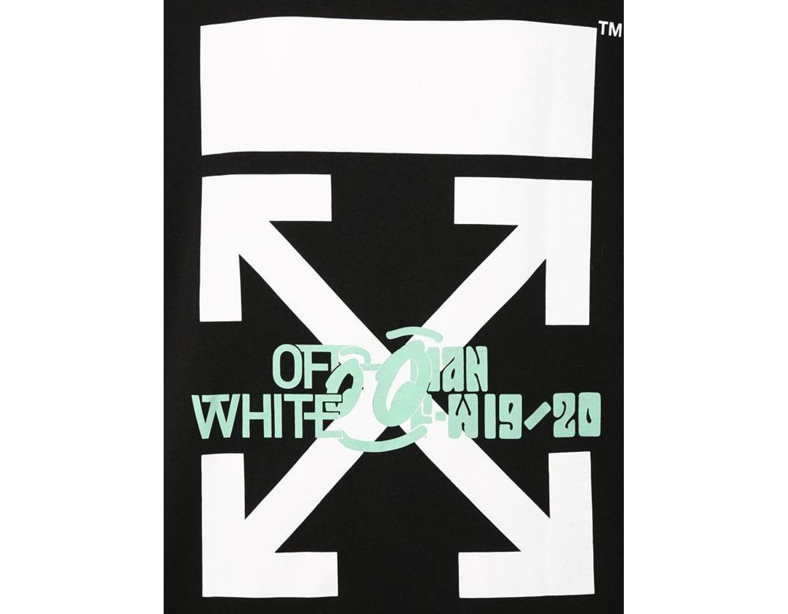 ea7c8005 Off-White c/o Virgil Abloh Oversize Waterfall Print Cotton T-shirt in Black  for Men - Lyst