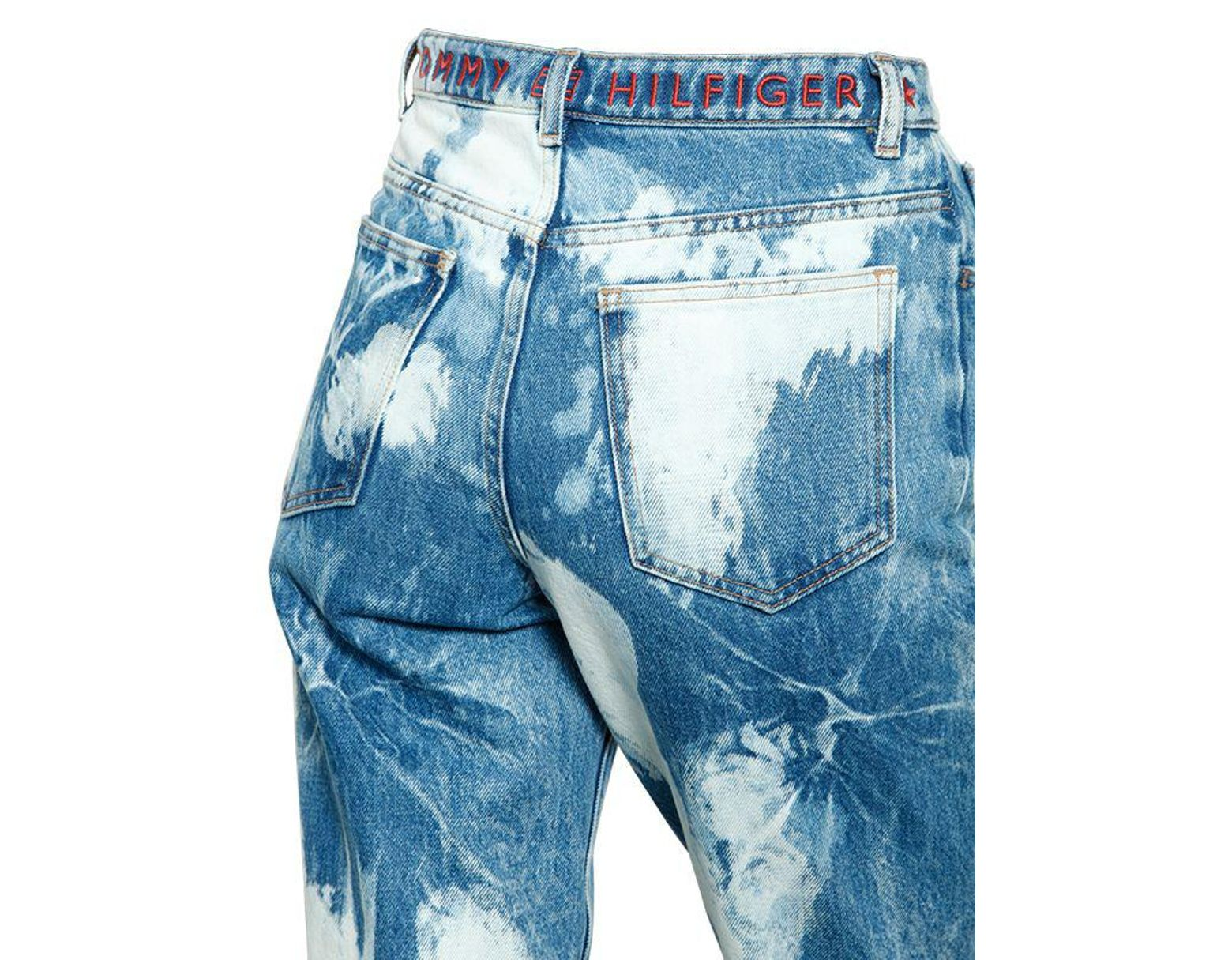 70fcf062 Tommy Hilfiger 90's Bleached Cotton Denim Jeans in Blue - Lyst