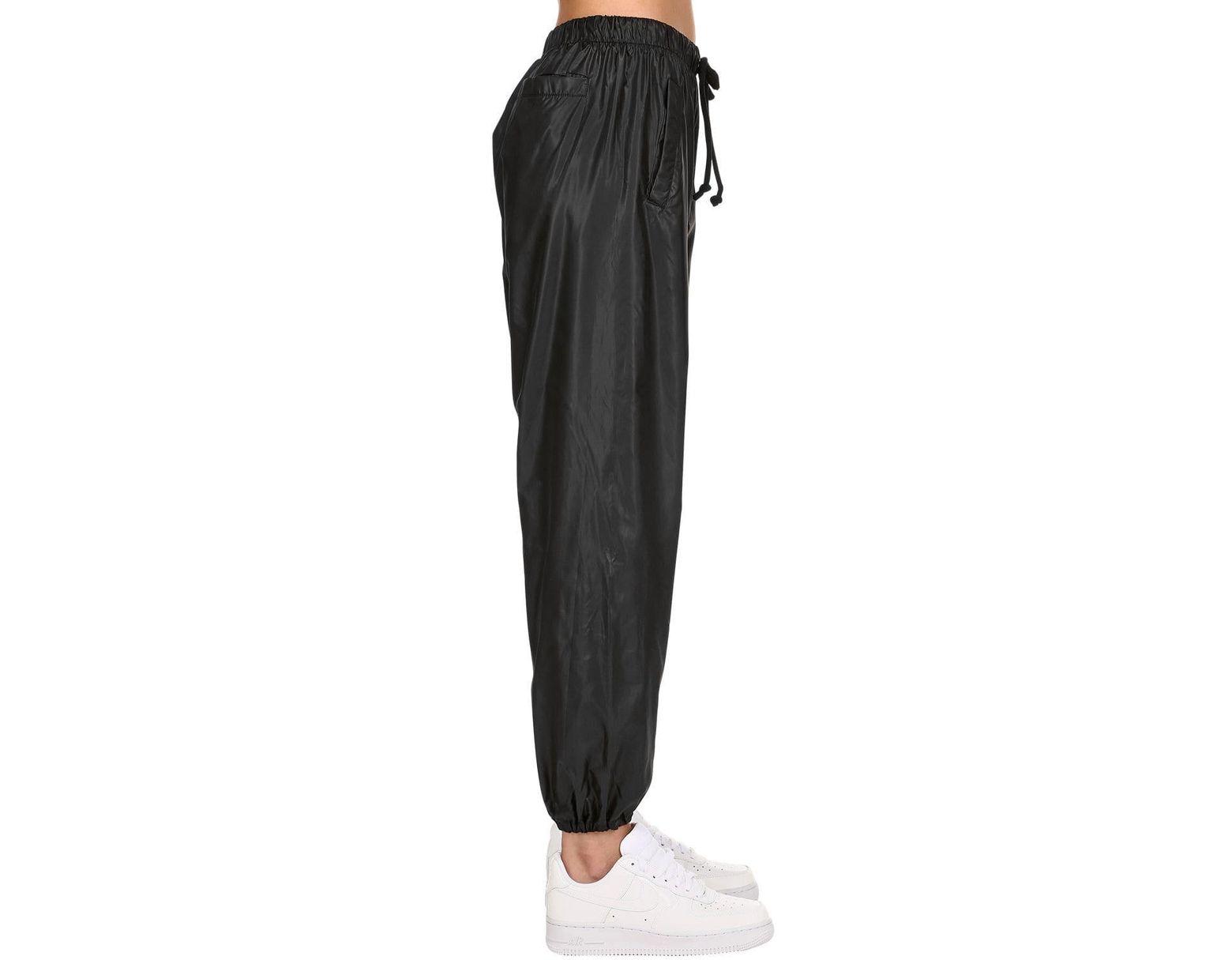a031cbaf Natasha Zinko Logo Detail Nylon Track Pants in Black - Lyst