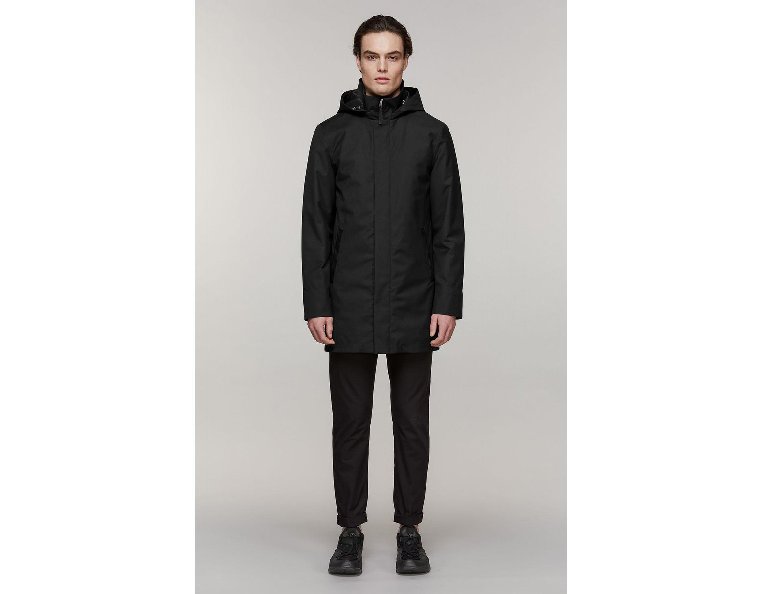 6921d466e4a Mackage Thorin-z 2-in-1 Twill Trench Coat With Removable Down Liner In  Black - 36 in Black for Men - Lyst